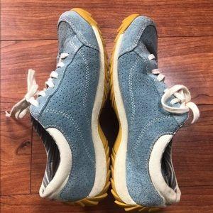 Simple Shoes - Simple Womens Sz 6.5 Blue Suede Leather Oxfords